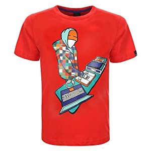 Bench Screeen Shot T-shirt pour garçon 14 ans Rouge - Orange
