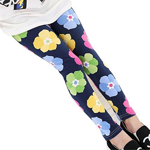 Baby Kids Childrens Printing Flower Toddler Classic Leggings Girls Pants (7, I) (Leggings Kids)