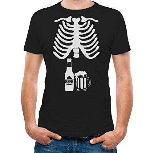 Halloween Skeleton Beer Belly Xray Funny Men's T-Shirt