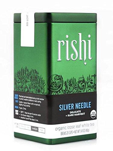 Rishi Tea Organic Silver Needle Loose Leaf Tea, 1.41 Ounces Tin (Organic White Silver Needle compare prices)
