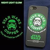 海外限定 STAR BUCKS×STAR WARS iPhone5c スターバックス×スターウォーズ (5cケース ブラック・グリーン)