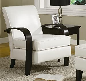Outstanding 1 Roundhill Wonda Bonded Leather Accent Chair With Wood Machost Co Dining Chair Design Ideas Machostcouk