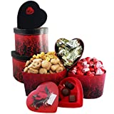 My Hearts Desire Chocolate and Candy Gourmet Food Gift Tower - Valentine&#039;s Day