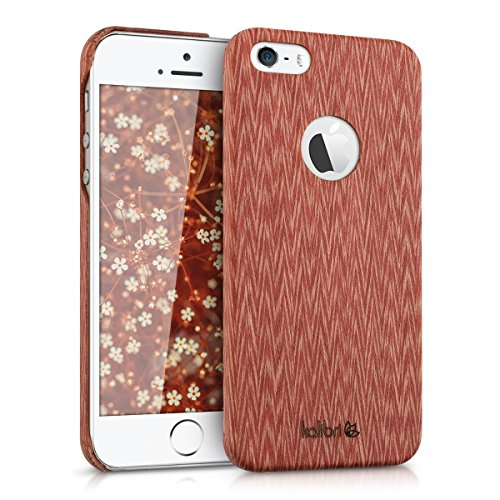 kalibri-Holz-Case-Hlle-fr-Apple-iPhone-SE-5-5S-Handy-Cover-Schutzhlle-aus-Echt-Holz-und-Kunststoff-aus-Abachiholz-in-Rot