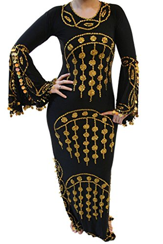 EgyptianSouvenirsGifts Women's Belly Dance Dress Abaya Galabeya Saidi Baladi