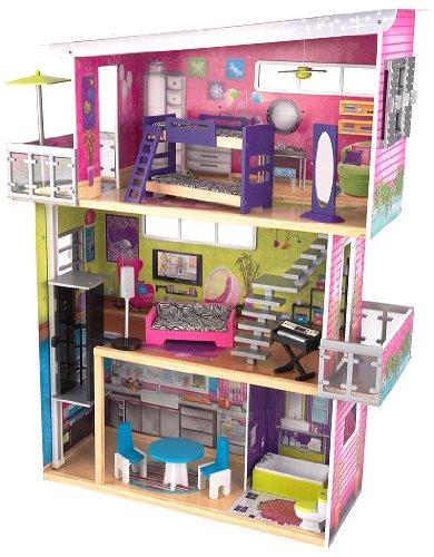 NEW【KidKraft キッドクラフト】My Modern DOLLHOUSE ドールハウス 3階建 家具13ピース エレベーター付