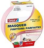 Tesa Masquer Finitions Parfaites Spécial Surfaces Sensibles 25 m x 25 mm