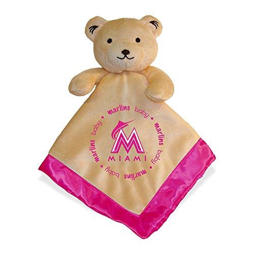 MLB Miami Marlins Baby Fanatic Snuggle Bear Blanket, Pink - 1