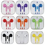 LeexGroup®Newest 3.5mm Zipper Earbuds EarPods Earphone Headset with Remote Volume Control and Mic Microphone for Apple ipod ipad 2/3/4/air/mini iphone 4/4S/5/5C/5S Samsung S2/S3/S4/Note 2/Note 3 HTC Sony LG Nokia Blackberry MP3 MP4.... (Blue)
