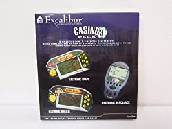 Vegas Casino Electronic Games- Gift Pack (3 Casino Handheld Games)