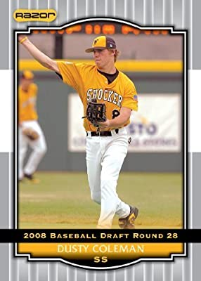 2008 Razor Signature Series Silver Limited Edition Baseball Card # 65 Dusty Coleman (Prospect - RC - Rookie Card) Oakland Athletics - MLB Baseball Trading Card