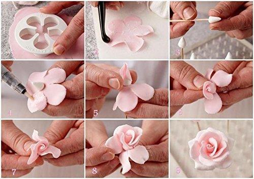 Как сделать цветы из мастики для торта