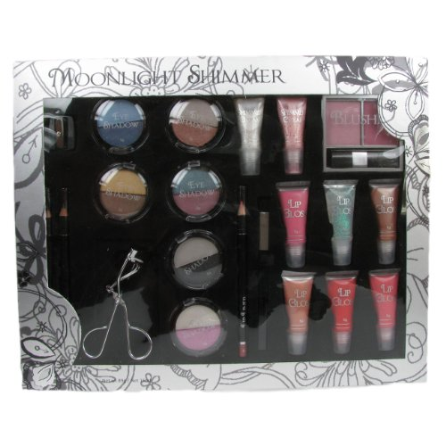 Amelia Knight England Moonlight Shimmer 21 Piece Cosmetic Make-up Gift Set