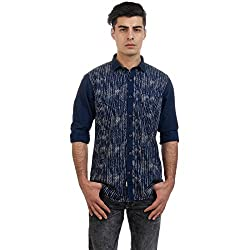 Sting Cream Printed Slim Fit Full Sleeve Cotton Casual Shirt