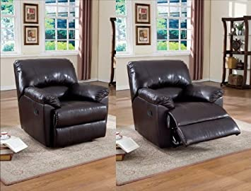 Espresso Bi-cast Leather Recliner