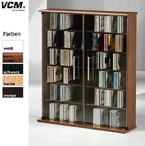Vcm mezzano 42047 torre porta cd dvd 300 cd in legno di - Porta dvd in legno ...