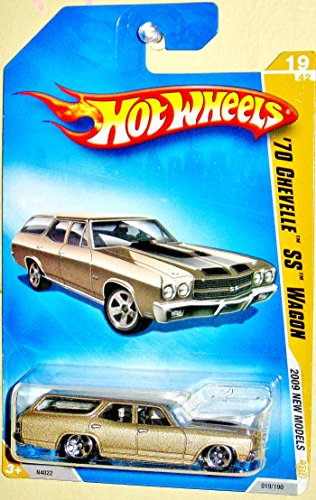 Hot wheels 2009 New models Tan/Gold 1970 Chevelle SS Wagon 1:64 Scale