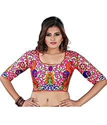 Try n Get's Multi Color Gamti Work Blouse Piece