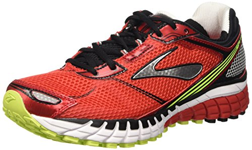 Brooks Aduro 3 M, Scarpe da Corsa Uomo, Multicolore (High Risk Red/Black/Nightlife), 44 EU