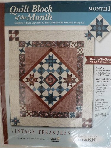 Quilt Block of the Month, Vintage Treasures, Month 1, Eliza's Star, By Quilt Blocks
