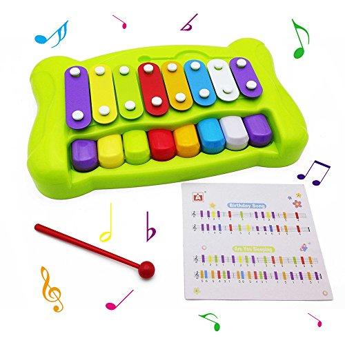 beby-2-in-1-musikalische-xylophon-glockenspiel-bunt-octave-tafelklavier-mit-klopfer-baby-kinder-lern