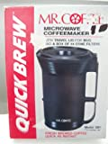 Mr Coffee QUICK BREW Microwave Coffee Maker [with Travel Lid]