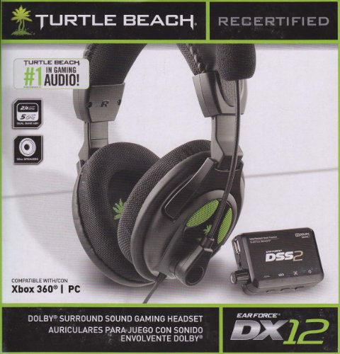 Recertified Turtle Beach Ear Force Dx12 Dolby Surround Sound Gaming Headset