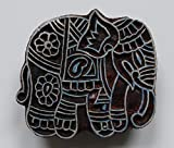 Elephant Shaped Indian Hand Carved Wooden Printing Block Stamp