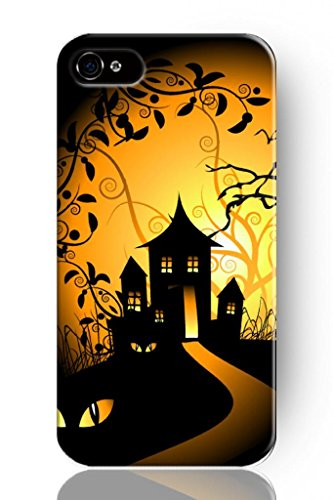 Sprawl New Beautiful Vintage Design Personalized Hard Plastic Snap On Slim Fit Iphone Case Halloween Theme 4 4S Phone Cover