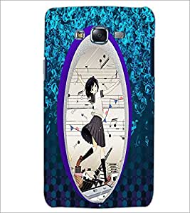 PrintDhaba Music Girl D-4470 Back Case Cover for SAMSUNG GALAXY ON 5 (Multi-Coloured)