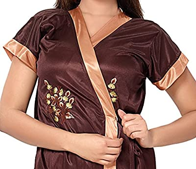 Fashigo Women's 2 Piece Satin Nighty (Free Size)