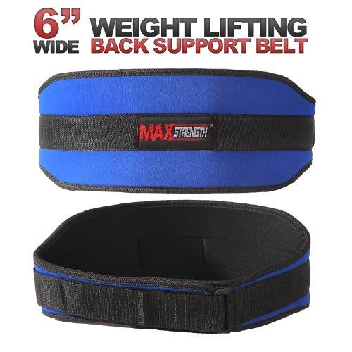 """MAXSTRENGTH 6"""" Magnetic Lower Support Belt Lumbar Waist Brace Pain Injury Relief men women SM/L-xL"""