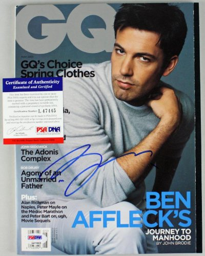 Ben Affleck Authentic Signed Autographed 2001 Gw Magazine PSA/DNA #L47445