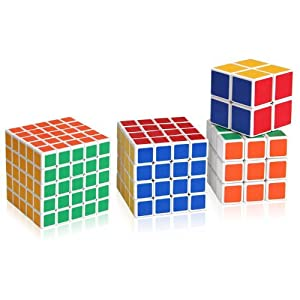 Shengshou Magic Cube Puzzle 5x5x5, 4x4x4,3x3x3 and 2x2x2 Magic Cube Set