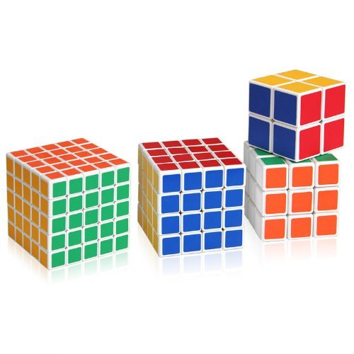 Omiu - Shengshou Magic Cube Puzzle 5X5X5, 4X4X4,3X3X3 And 2X2X2 Magic Cube Set