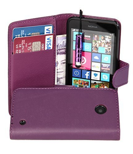 connect-zoner-purple-pu-leather-wallet-flip-case-for-nokia-lumia-630-screen-protector-mini-stylus