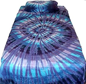 Twilight Spiral Tie Dye Sheet Set - Twin Xlong