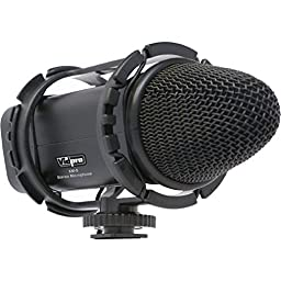 XM-S Stereo Condenser Microphone with Fuzzy Windbuster for Nikon D500, D3200, D3300, D5100, D5200, D5300, D5500, D7000, D7100, D7200, D300, D300s, D600, D610, D700, D750, D800, D800e, D810, D810A Digital SLR Camera