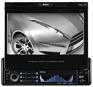 BOSS Audio BVI9994 In-Dash Single-Din 7-inch Motorized Detachable Touchscreen DVD/CD/USB/SD/MP4/MP3 Player Receiver with Remote
