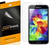 [6-Pack] SUPERSHIELDZ- High Definition Clear Screen Protector For Samsung Galaxy S5 + Lifetime Replacements Warranty (AT&T, Sprint, T-Mobile, Verizon, US Cellular, Boost Mobile , All Carriers) Galaxy S5 Screen protector [6-PACK] - Retail Packaging