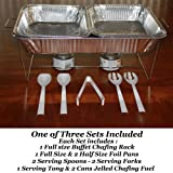 33 piece Buffet Chafer Chafing Serving Kit & Food Warmers - 3 Complete Sets!