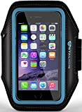 iPhone 6 6S PLUS Armband : Stalion® Sports Running & Exercise Gym Sportband iPhone 6 PLUS (5.5-Inch)[Lifetime Warranty](Cyan Blue)Water Resistant + Sweat Proof + Key Holder + ID / Credit Card / Money Holder