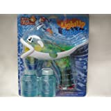 Light Up Dolphin Bubble Gun Light With 2 Bottles Of Bubbles