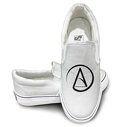 Harriy Atheist Symbol Unisex Canvas Flat Canvas Sneaker Shoes 36 White (Dragon De Fisher Price compare prices)