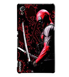 Omnam Deadpool Hero Printed Designer Back Cover Case For Sony Xperia Z4