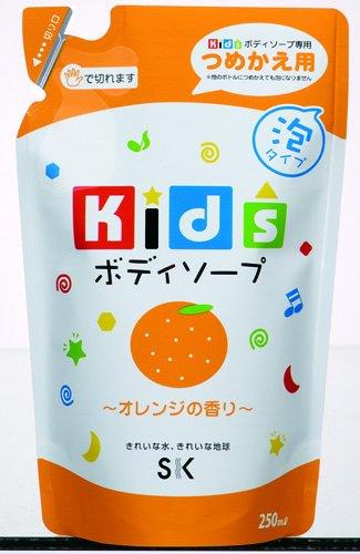 エスケー石鹸 キッズボディソープ オレンジの香り 詰替用250ml