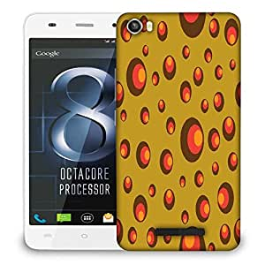 Snoogg Colorful Circles Designer Protective Phone Back Case Cover For LAVA IRIS X8