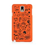 HSD Ultra Slim Fit Cartoon Pattern Plastic Hard Case for Samsung Galaxy Note 3 III N900 / N9000/ N9005 (Orange)