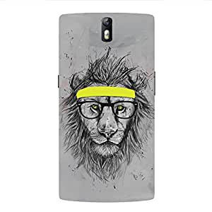 Back cover for OnePlus One Nerdy Lion