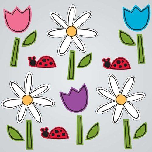 GelGems Daisies & Tulips Large Bag Gel Clings - 1